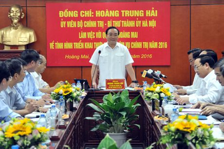 Bi thu Thanh uy Ha Noi: Xu ly nghiem, khong de tai dien vi pham trat tu xay dung - Anh 1