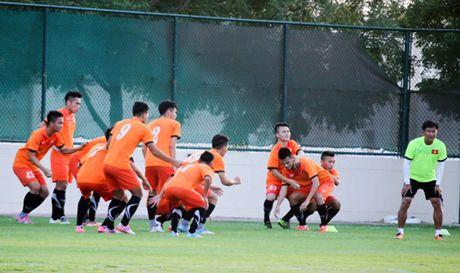 U19 Viet Nam san sang cho tran dau voi U19 UAE - Anh 1
