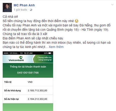 MC Phan Anh keu goi duoc hon 2 ty ung ho dong bao mien Trung - Anh 2