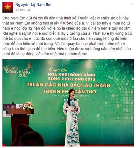 Nam Em xin loi khi bi to mac ao dai 'nhai' - Anh 2