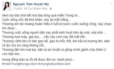 Cac sao Viet cung dang cung chung tay giup do dong bao lu lut mien Trung - Anh 6