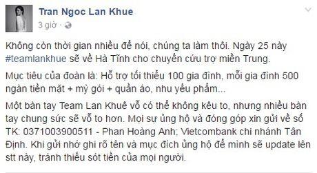 Cac sao Viet cung dang cung chung tay giup do dong bao lu lut mien Trung - Anh 7