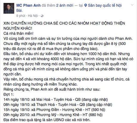 MC Phan Anh len duong toi Da Nang, cong khai so tien quyen gop len den 8 ty dong cho den hien tai! - Anh 1