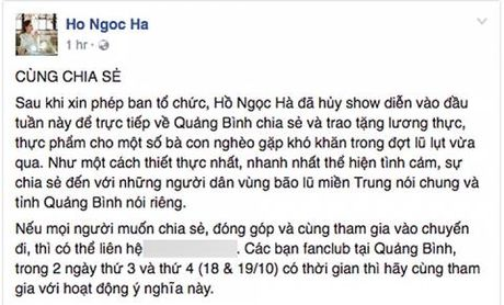 Nghe si Bac - Nam ung ho dong bao mien trung hang ty dong - Anh 5