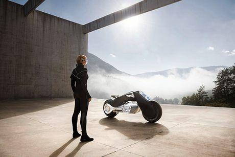 BMW Motorrad ra mat moto tuong lai Vision Next 100 - Anh 2