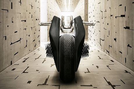 BMW Motorrad ra mat moto tuong lai Vision Next 100 - Anh 3