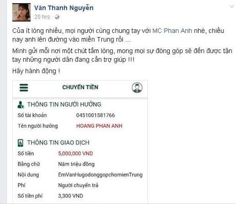 'Sao' Viet xuc dong truoc tam long cua Phan Anh - Anh 2