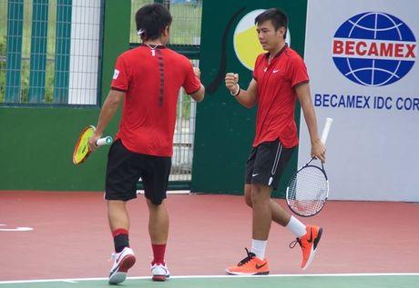 Hoang Nam, Hoang Thien khoi dau thuan loi o ca 2 noi dung giai F7 Futures - Anh 1