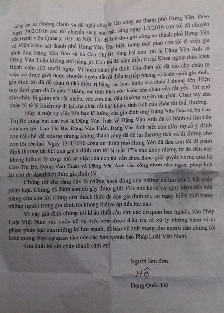Hung Yen: Nhieu uan khuc xung quanh viec tam dinh chi 1 vu an 'Co y gay thuong tich' - Anh 2