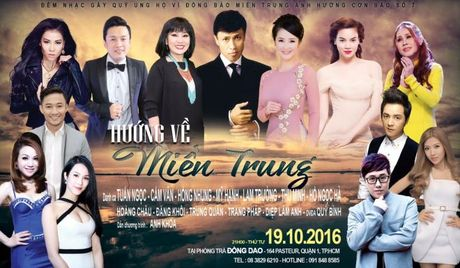Thu Minh, Ha Ho va dan sao Viet chung tay ung ho dong bao mien Trung - Anh 1