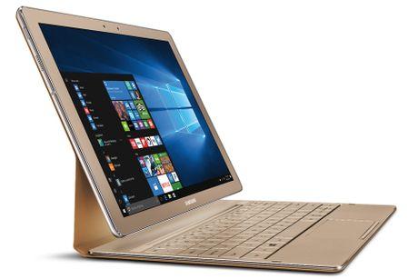 Samsung Galaxy TabPro S Gold Edition: May tinh bang lai laptop cau hinh 'khung' - Anh 1