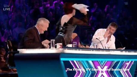 Giam khao 'X-Factor Anh' tuc gian nem do vao dong nghiep vi bi lua - Anh 2