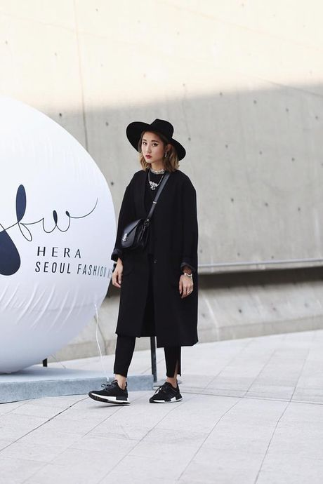 Hoang Ku, Chau Bui, Min cung cac fashionista Viet noi khong kem fashionista Han tai Seoul Fashion Week - Anh 11