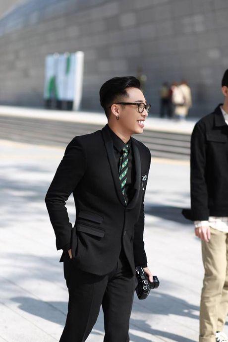 Hoang Ku, Chau Bui, Min cung cac fashionista Viet noi khong kem fashionista Han tai Seoul Fashion Week - Anh 19