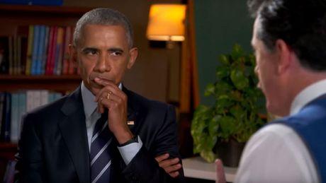 "Tong thong Obama ""tap"" phong van tim viec sau khi roi Nha Trang - Anh 2"