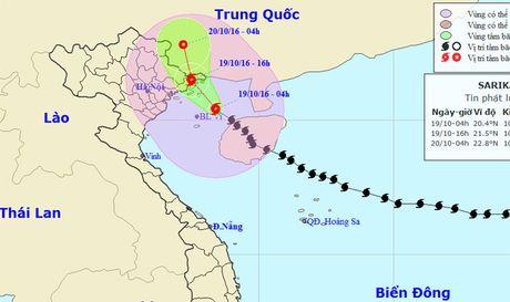 Chieu nay, bao Sarika do bo vao Quang Ninh - Anh 1