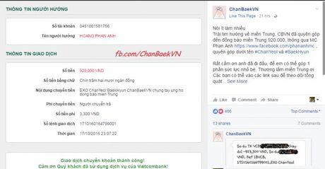 Fans Kpop chung tay ung ho dong bao mien Trung bi lu lut - Anh 1