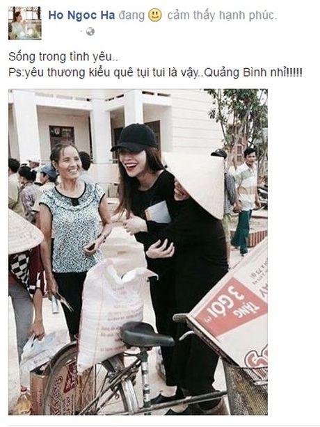 Ho Ngoc Ha phat qua toi tan toi muon cho ba con vung lu - Anh 3