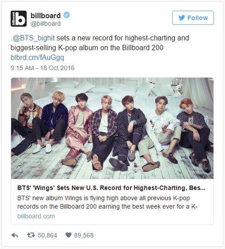 BTS vuot mat tat ca idolgroup dan anh dan chi, pha ky luc Billboard 200 - Anh 1