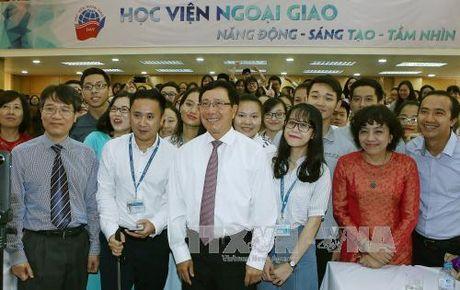 Phó Thủ tướng Phạm Bình Minh dự khai giảng Học viện Ngoại giao